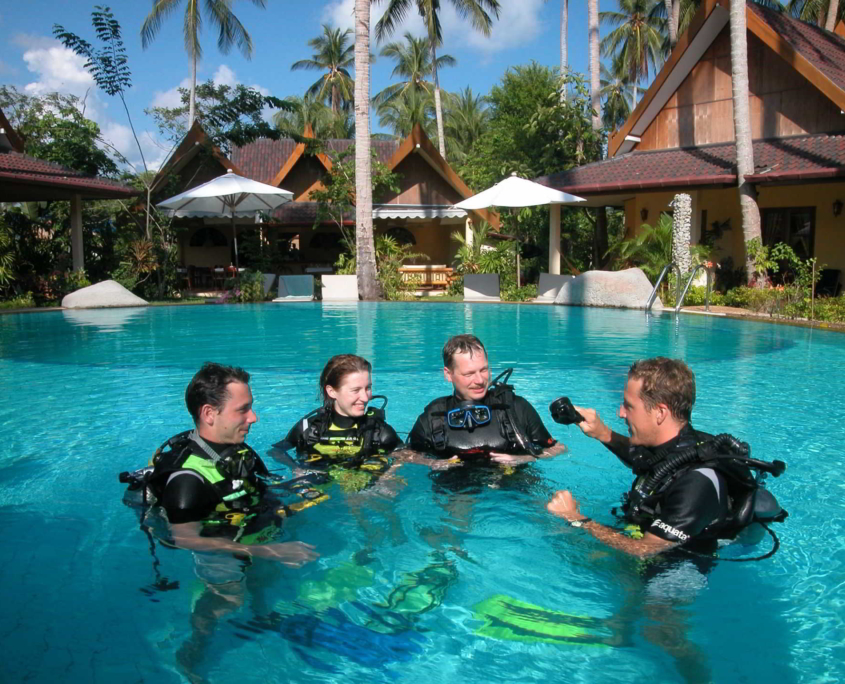 scuba diving courses phuket palm garden resort